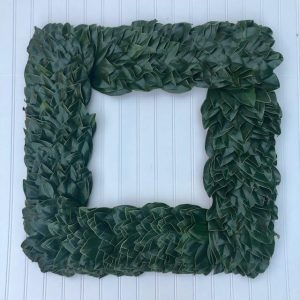 All Green Square Magnolia Wreath